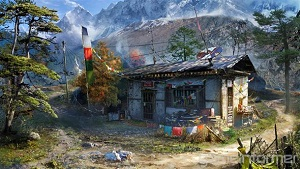 Far Cry 4 Concept art outpost